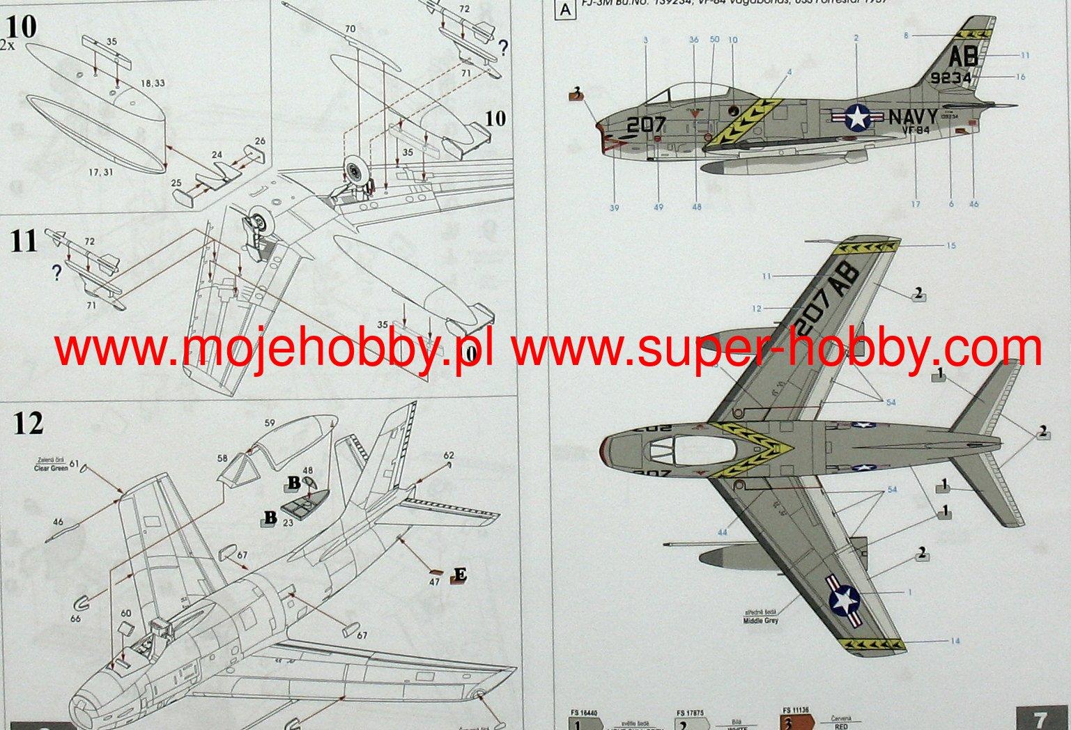 Sword 1//72 North-American FJ-3M Fury # 72109