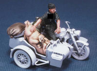 German motorcycle rider with a pig (WWⅡ) - Image 1
