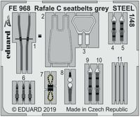 Rafale C seatbelts grey STEEL Revell - Image 1