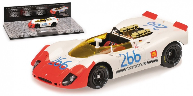 MINICHAMPS Porsche 908//02 Spyder #266 Mitter//Schutz Targa Florio 1969 437692266