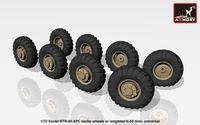 BTR-60 APC wheels w/ weighted tires K-58 - Image 1