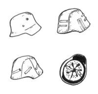 German WW II Helmets (6 pcs) - Image 1