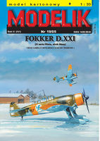 Finnish fighter FOKKER D.XXI (IV finnish series, Wasp engine )