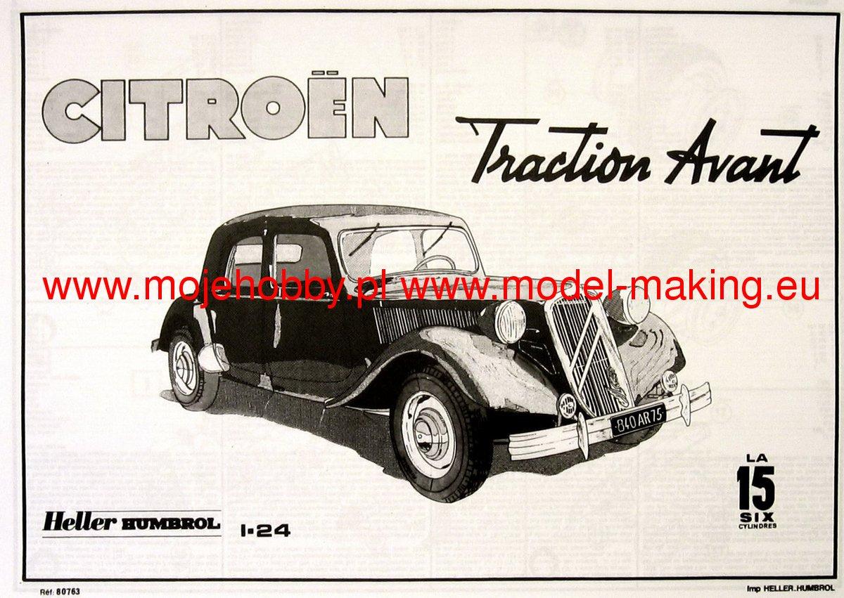 1934 Citroen 15 CV Traction Avant 1:24 Heller 80763