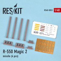 R-550 Magic-2 missile (4 pcs) (Mirage f.1, Mirage 2000, Mirage III, Rafale, Super Etendard) - Image 1