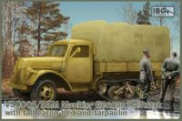 V3000S/SSM Maultier German Half Track with tall cargo bed and tarpaulin - Image 1