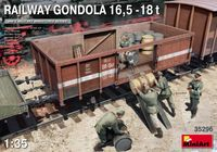 Railway Gondola 16,5-18t with Figures & Barrels
