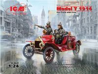 Model T 1914 Fire Truck with Crew - Image 1