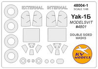 Yak-1B - (MODELSVIT) - (double sided) + wheels masks - Image 1